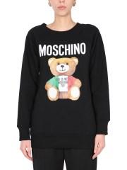 MOSCHINO - FELPA CON STAMPA ITALIAN TEDDY