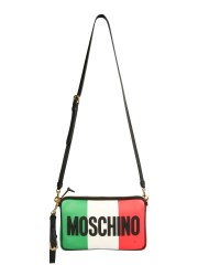 MOSCHINO - BORSA A TRACOLLA ITALIAN SLOGAN