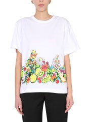 BOUTIQUE MOSCHINO - T-SHIRT STAMPA FRUIT