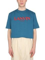 LANVIN - T-SHIRT CON RICAMO LOGO