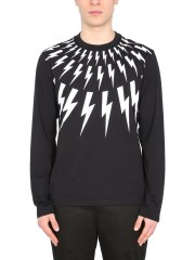 "NEIL BARRETT - T-SHIRT ""FAIR ISLE THUNDERBOLT"""