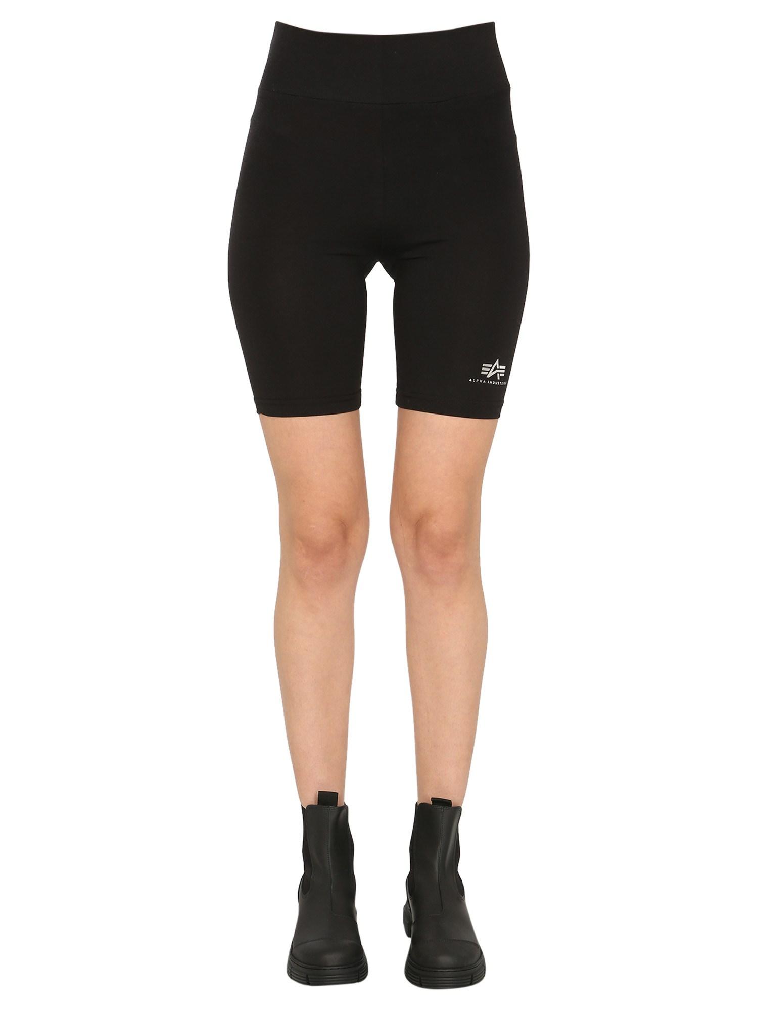 Cyclist shorts with logo - alpha industries - Modalova