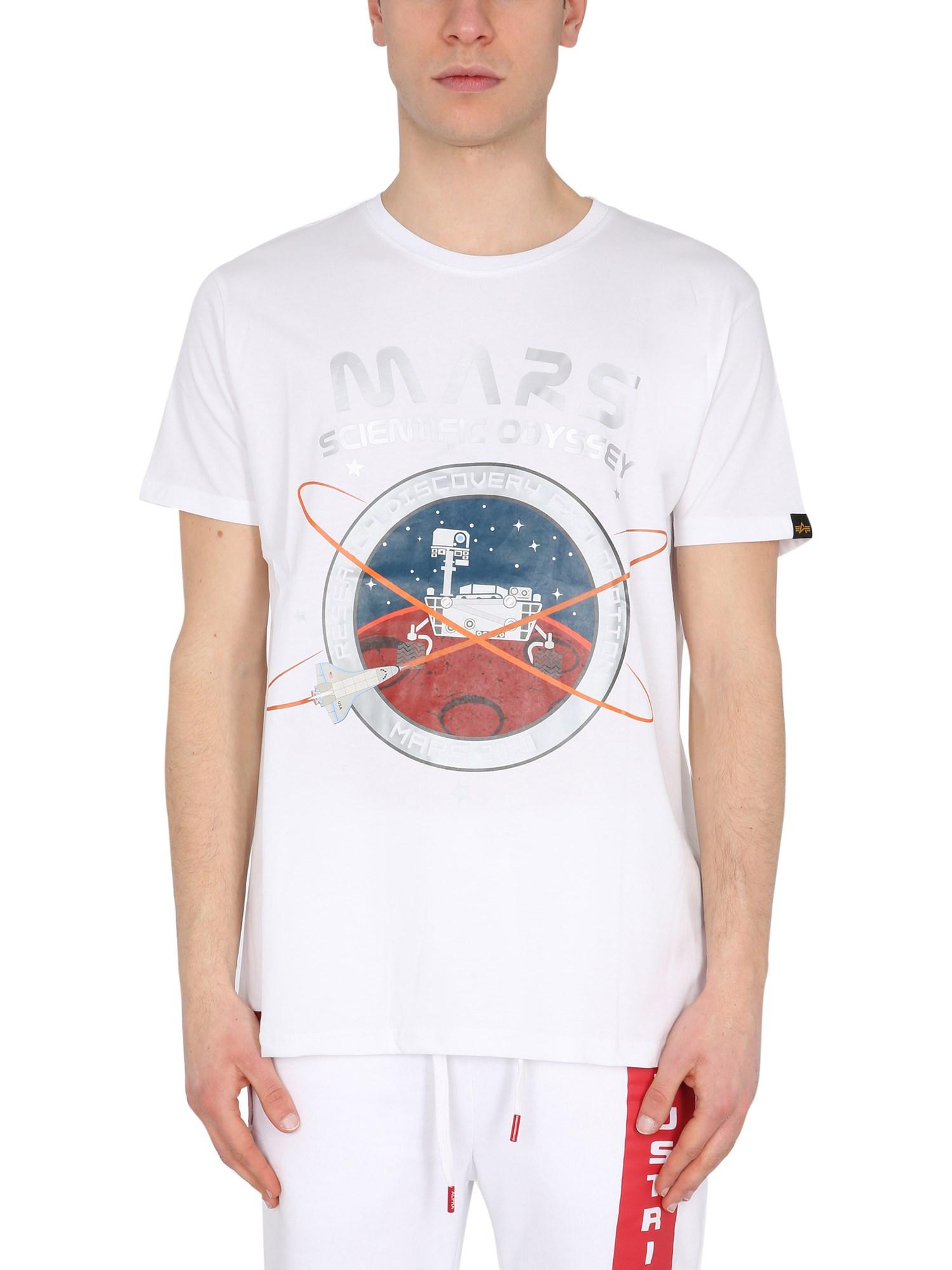 """Mission to mars"""" t-shirt - alpha industries - Modalova"""
