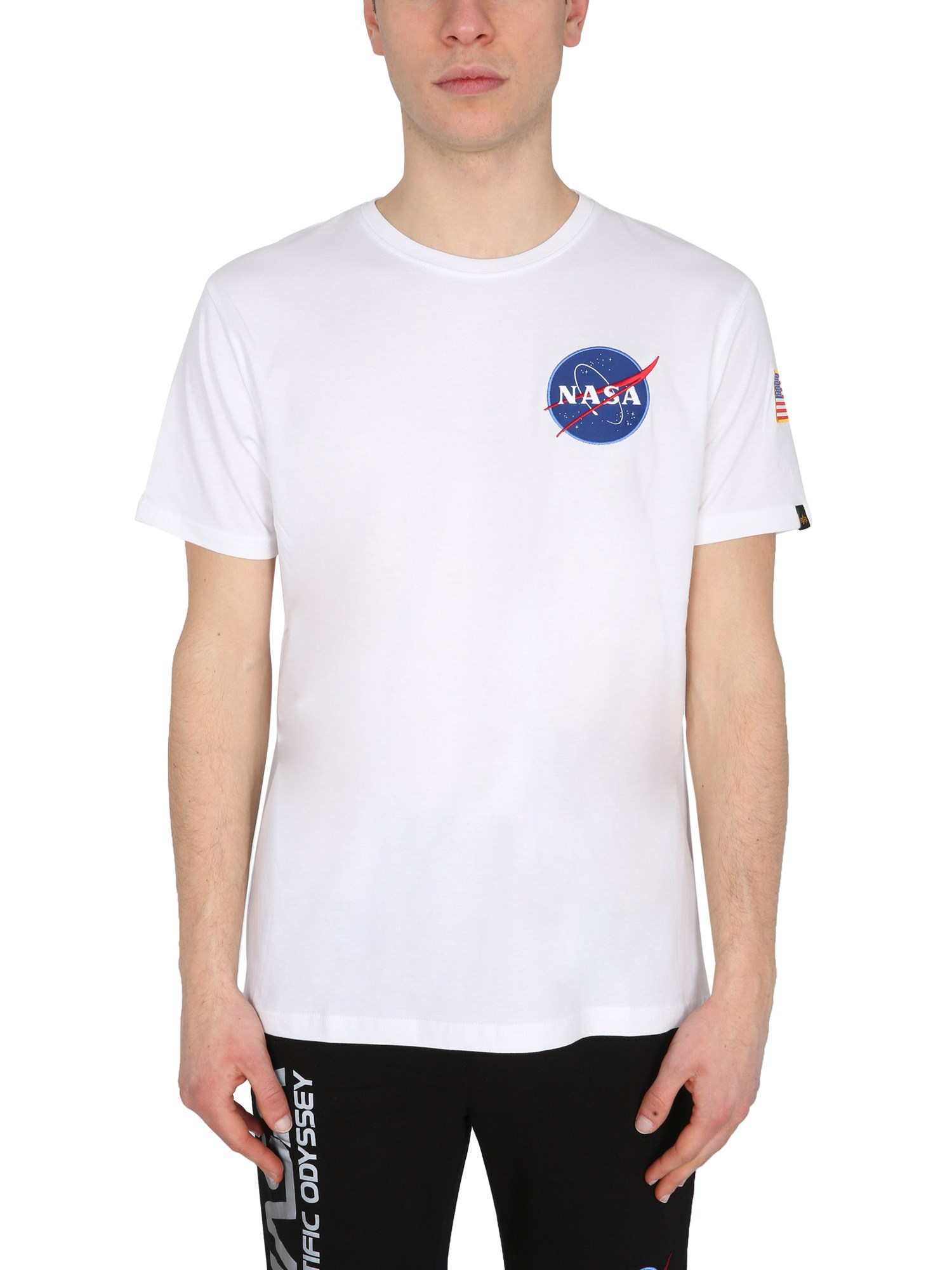 """Alpha Industries """"space Shuttle"""" T-shirt In Bianco"""