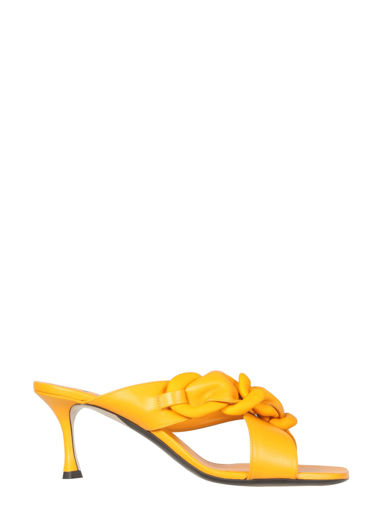 N°21 Mules With Braided Chain In Yellow
