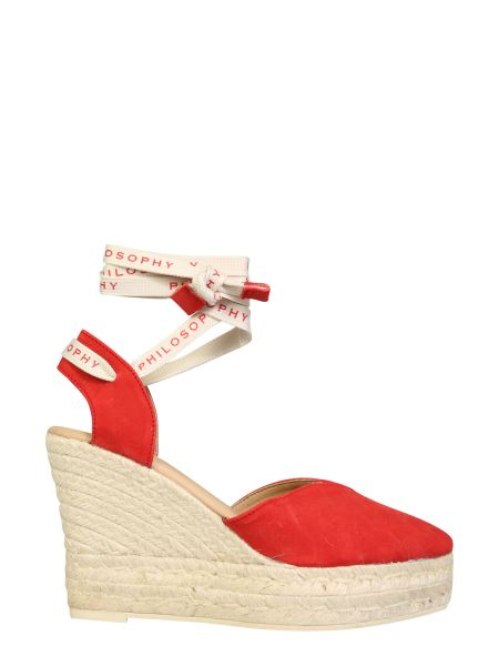 Philosophy X Manebi - Suede Espadrillas With Wedges And Laces