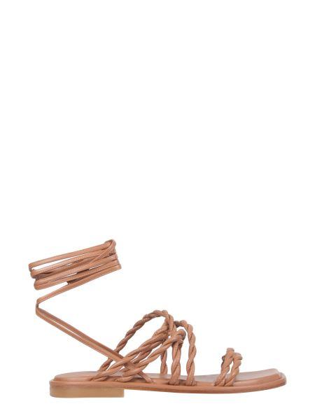 Stuart Weitzman - Calypso Leather Sandals With Laces