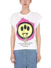 BARROW - T-SHIRT CROPPED CON STAMPA