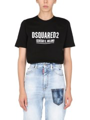 DSQUARED - T-SHIRT RENNY FIT CON LOGO