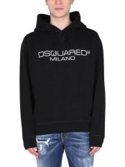 DSQUARED - FELPA CON CAPPUCCIO