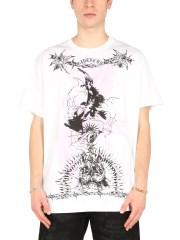 GIVENCHY - T-SHIRT OVERSIZE FIT CON STAMPE GOTICHE
