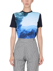 PS BY PAUL SMITH - T-SHIRT CON STAMPA LANDSCAPE