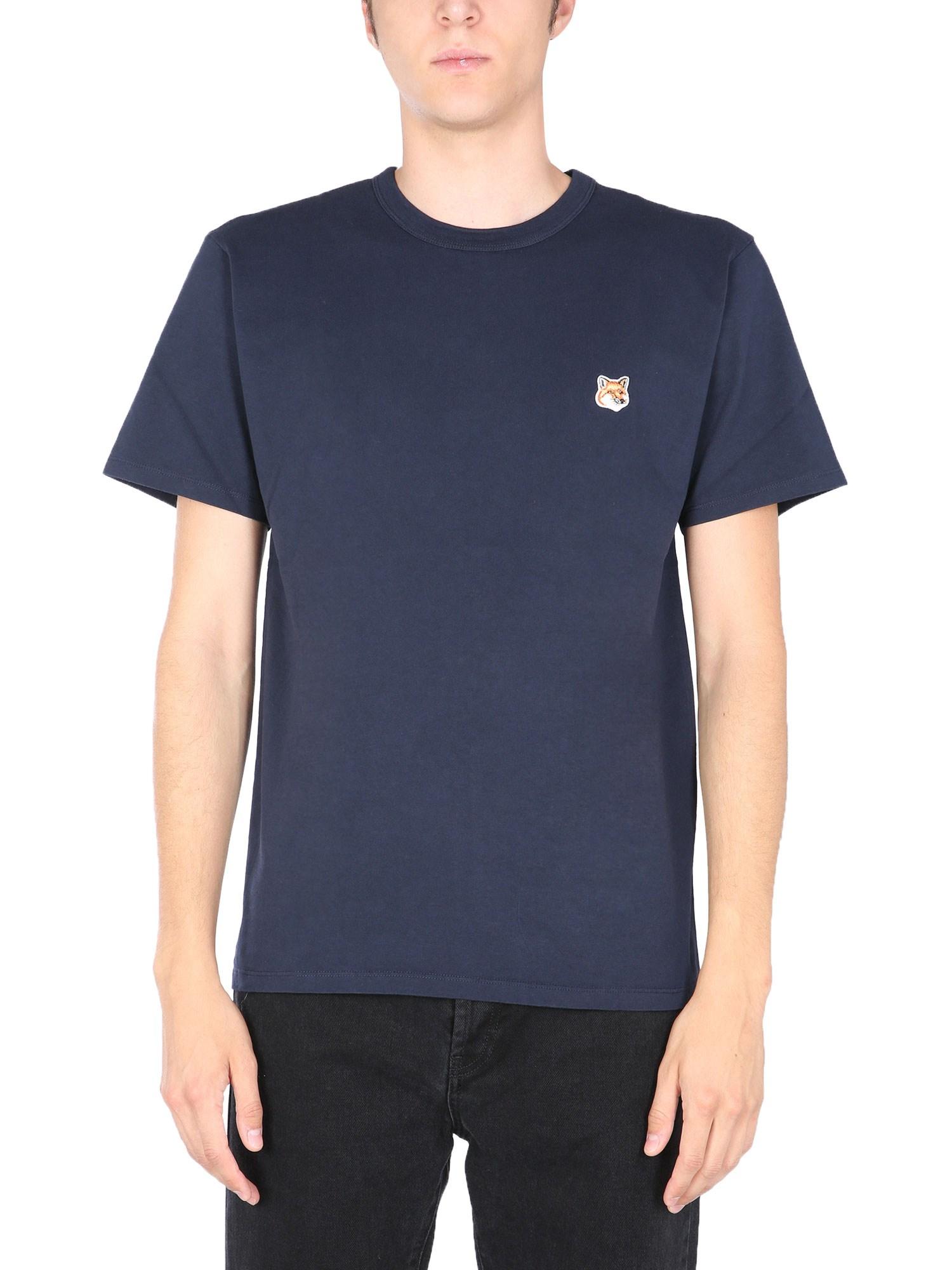 Maison kitsuné crew neck t-shirt - maison kitsuné - Modalova