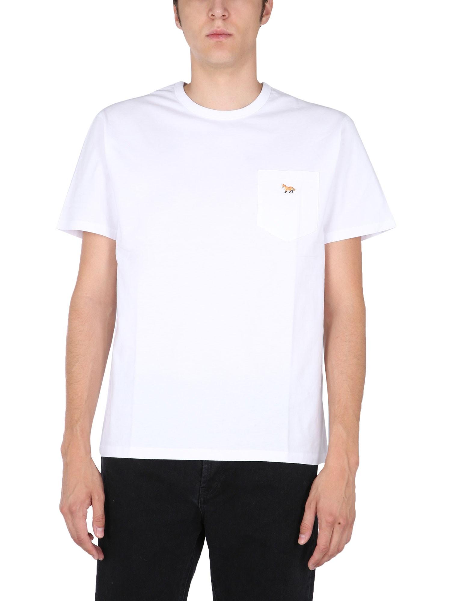 "T-shirt with ""fox"" patch - maison kitsuné - Modalova"