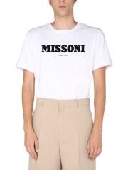 MISSONI - T-SHIRT CON LOGO FLOCCATO