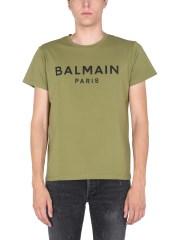 BALMAIN - T-SHIRT CON STAMPA LOGO