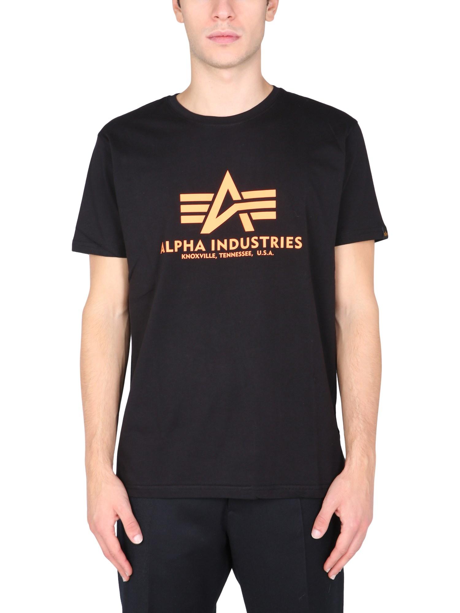 T-shirt with logo print - alpha industries - Modalova