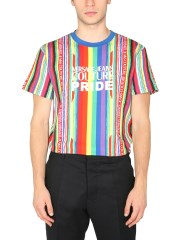 VERSACE JEANS COUTURE - T-SHIRT CON STAMPA PRIDE
