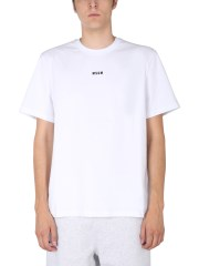 MSGM - T-SHIRT CON STAMPA LOGO LETTERING