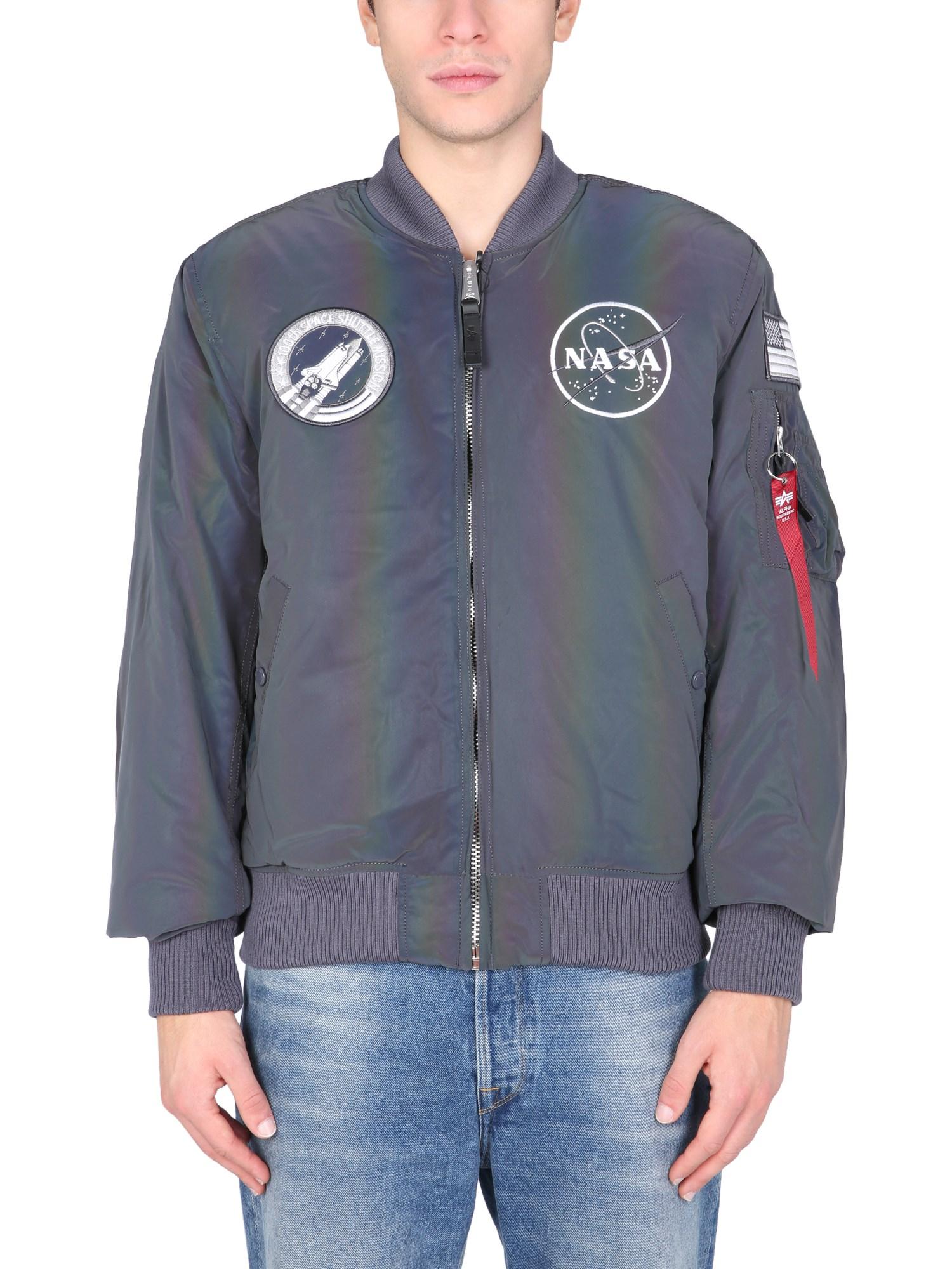 "Ma-1 nasa rainbow ref"" jacket - alpha industries - Modalova"