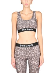 PALM ANGELS - TOP CON STAMPA ANIMALIER