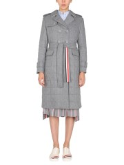 THOM BROWNE - TRENCH IN LANA COTTA