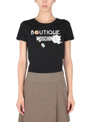 BOUTIQUE MOSCHINO - T-SHIRT CON STAMPA CHIC HERITAGE