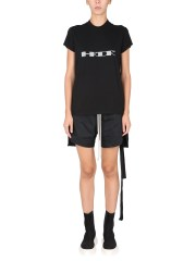 """RICK OWENS DRKSHDW - T-SHIRT """"SMALL LEVEL"""" CON STAMPA LOGO"""
