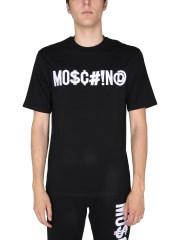 MOSCHINO - T-SHIRT CON RICAMO LOGO