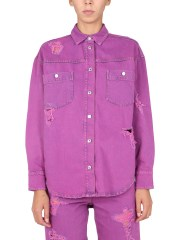 MSGM - GIACCA CAMICIA DESTROYED