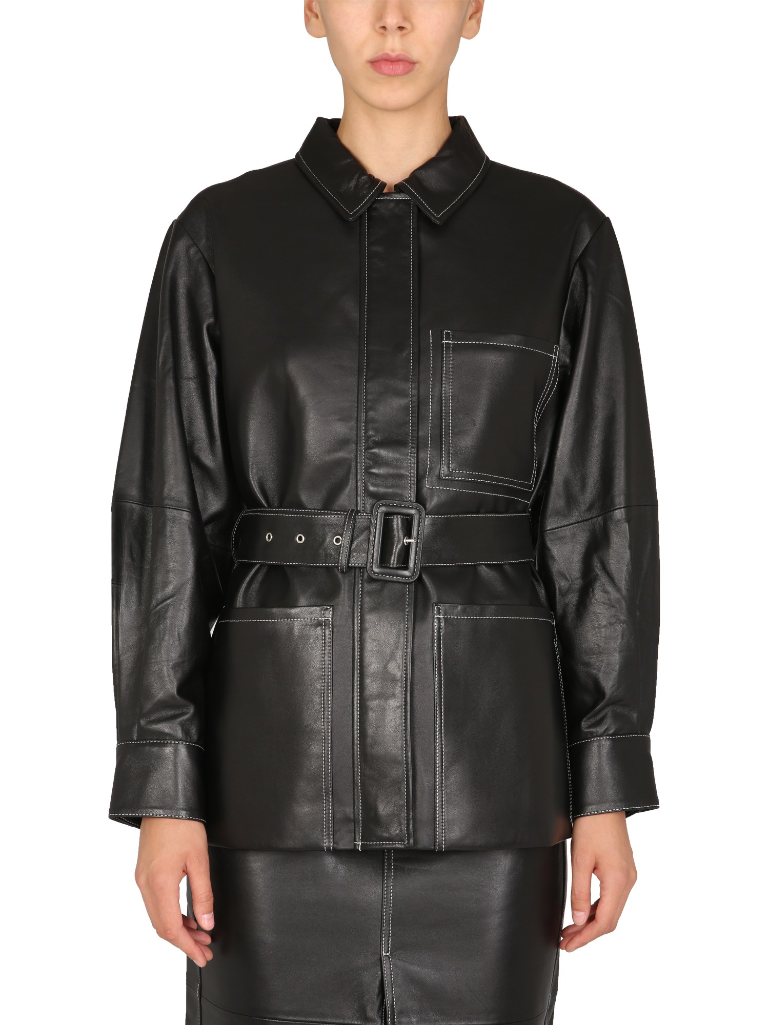 Nappa leather jacket - proenza schouler white label - Modalova