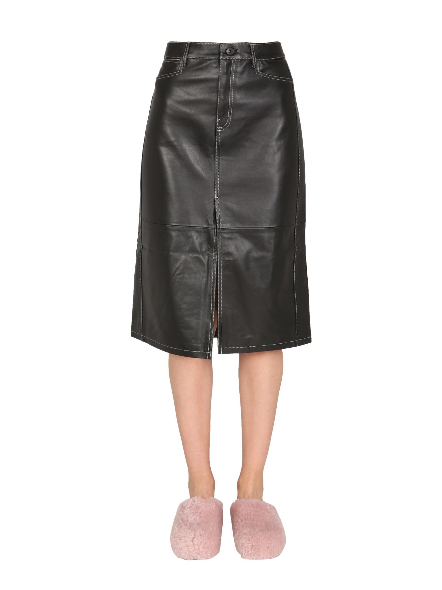 Nappa leather skirt - proenza schouler white label - Modalova