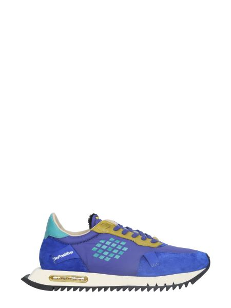 Bepositive - Space Run Nylon And Suede Sneakers